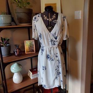 Gentle Fawn Button Wrap Dress